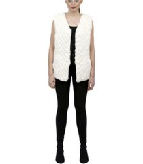 love token velma faux fur vest