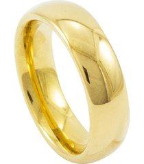 aliança de tungstênio new tungsten 6mm dourada