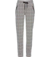 pantaloni principe di galles con elastico in vita (grigio) - bpc selection premium
