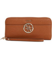 guess kamryn large zip-around wallet