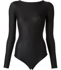 amir slama strappy swimsuit - black