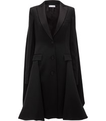 jw anderson single-breasted draped-back coat - black