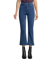 empire slim-fit high-rise crop flare jeans