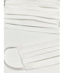 pack de tapabocas blanco donadonna costurados tricapa de friselina x 10