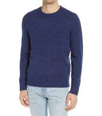 men's a.p.c. men's marcus merino wool sweater, size small - blue