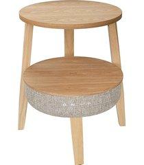 mesa lateral wi-fi 3 clara/smart table - 61x55x26