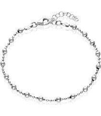 bracciale con palline in argento rodiato per donna