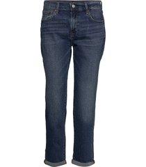mid rise girlfriend jeans raka jeans blå gap