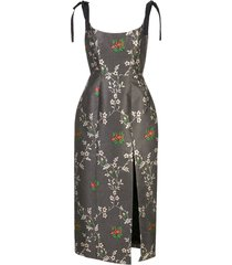 floral print monroe corset dress