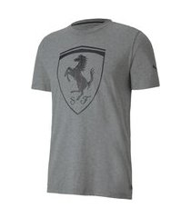 camiseta puma ferrari big shield masculina - mescla