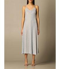emporio armani dress emporio armani midi dress in lurex knit