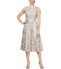 alex evenings lace a-line dress