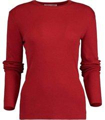 crimson featherweight cashmere top