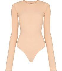 alix nyc leroy long-sleeve bodysuit - neutrals