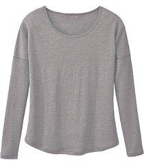 shirt met lange mouwen, zilver 40/42
