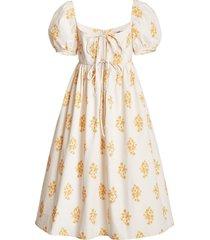 alessia printed poplin dress