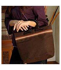 cotton handbag, 'coffee cake' (thailand)