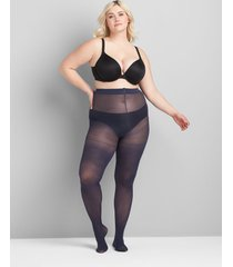 lane bryant women's smoothing tights - 50 d opaque g-h dark water
