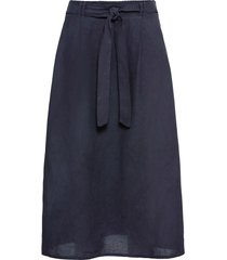 gonna in misto lino con cintura (blu) - bodyflirt