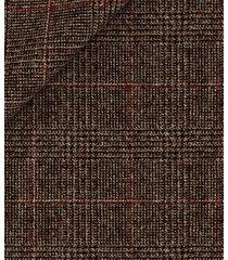 pantaloni da uomo su misura, reda, flanella galles marrone a filo rosso, autunno inverno | lanieri