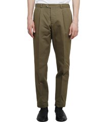 pt01 pt torino army green trousers