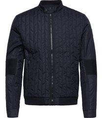 otor quilted padded moto doorgestikte jas blauw calvin klein jeans