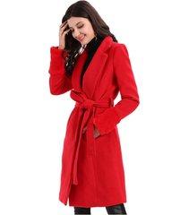 abrigo manga peluda rojo nicopoly