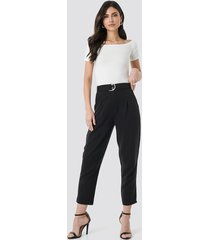 trendyol arched lyocell pants - black
