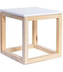 cubo vazado cromus para decoração de mesa branco 15cm