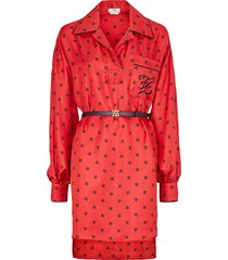 fendi fendi ff motif print shirt dress