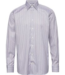 fine striped twill shirt - contemporary fit overhemd business paars eton