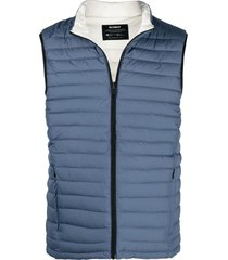 ecoalf wales reversible recycled polyester gilet - blue