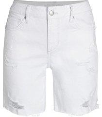 the bermuda distressed denim shorts