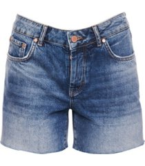 superdry denim mid length shorts