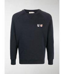 maison kitsuné fox head cotton sweatshirt