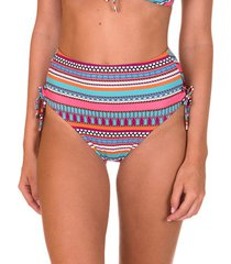 bikini lisca zwempakkousen hoge taille geknoopt capri koraal