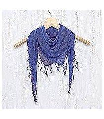 silk scarf, 'imperial night' (thailand)