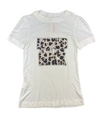 t-shirt lily belle animal print off-white