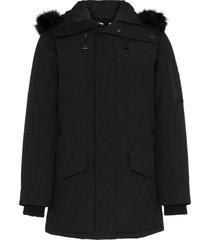 kenzo padded hoodie parka - black