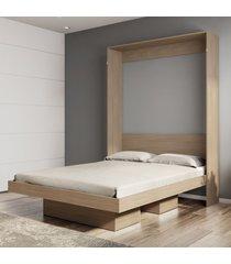 cama de casal articulável manhattan 2 nichos montana - art in móveis
