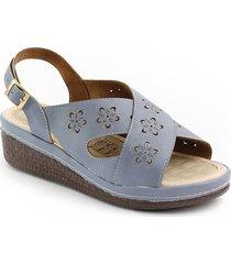 sandalia casual tipo confort para dama 6922226celeste