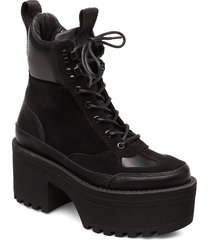 celeste hike l shoes boots ankle boots ankle boots with heel svart shoe the bear
