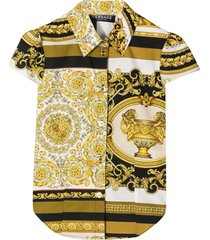 young versace patterned shirt