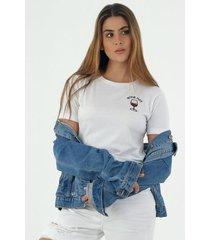 tshirt para mujer topmark, fondo entero y con bordado wine not