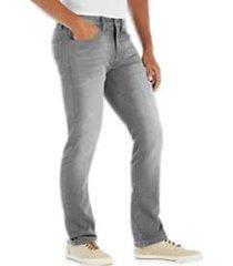 flex by joseph abboud light gray slim fit knit jean
