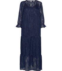 dress long sleeved w. volume at sle maxiklänning festklänning blå coster copenhagen