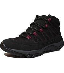 botas negro-rosa villabonr vlb-2030