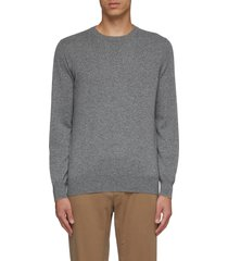 contrast edge cashmere sweater