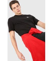 camiseta negro adidas originals essential trifolio