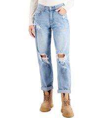 celebrity pink juniors' distressed boyfriend jeans
